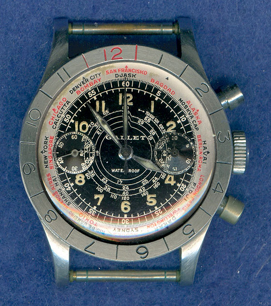 Harry Truman Gallet Flying Officer's Chronograph