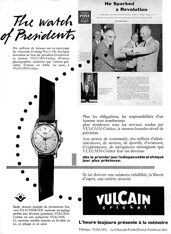 Vulcain Eisenhower ad