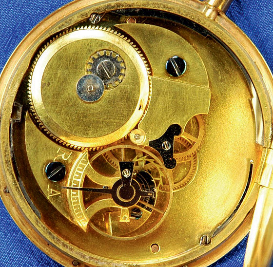 George Washington's Lepine pocketwatch movement