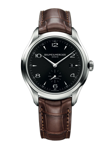 Baume & Mercier Clifton in steel case/black dial