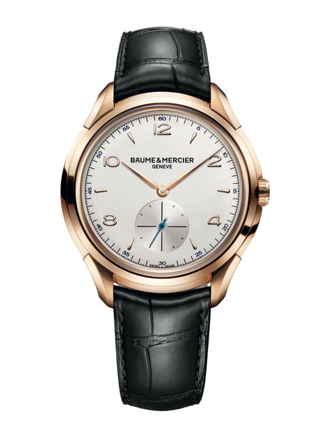 Baume & Mercier Clifton in gold case