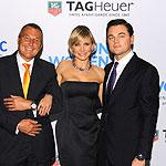 TAG Heuer's Jean-Christophe Babin, Cameron Diaz, Leonardo DiCaprio