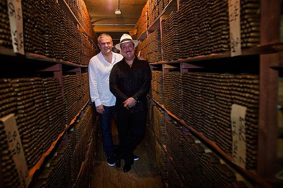 Ricardo Guadalupe and Carlito Fuente in cigar room