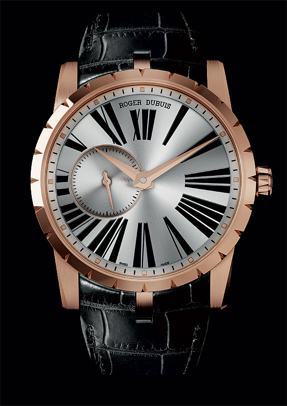 Roger Dubuis Excalibur Automatic rose gold white dial