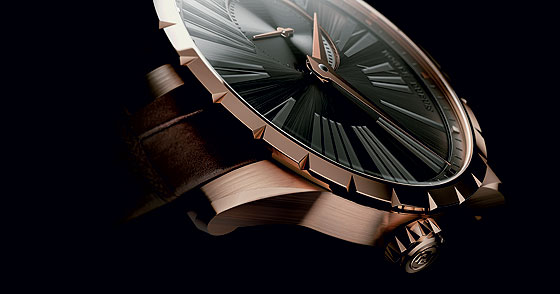 Roger Dubuis Excalibur Automatic rose gold gray dial-angle