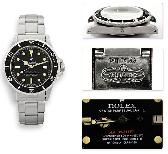 Rolex Single Red Prototype Sea-Dweller Submariner