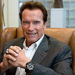 Arnold Schwarzenegger wearing Audemars Piguet
