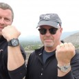 Matthew Robinson, wearing his Bell & Ross black PVD BR01, and Bill Thomas, wearing his Zenith El Premiro Chronograph, visit the Pyramids of the Moon and Sun at Teotihuacan in Mexico City.