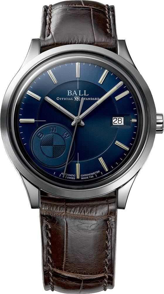 Ball for BMW Classic blue dial leather strap