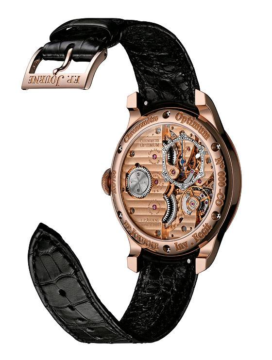 F.P. Journe Chronometre Optimum in rose gold, back