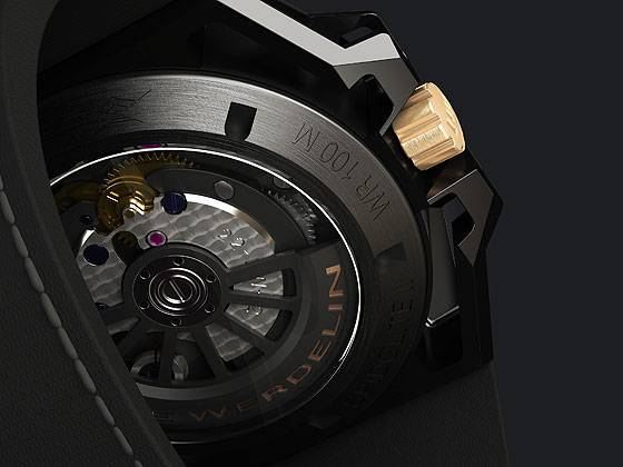 Linde Werdelin SpidoLite II Black Gold - back