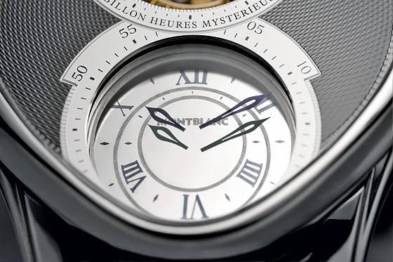 Montblanc Grand Tourbillon Heueres Mysterieuses dial detail