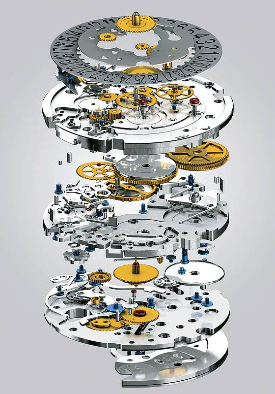 Piaget Caliber 880p exploded view