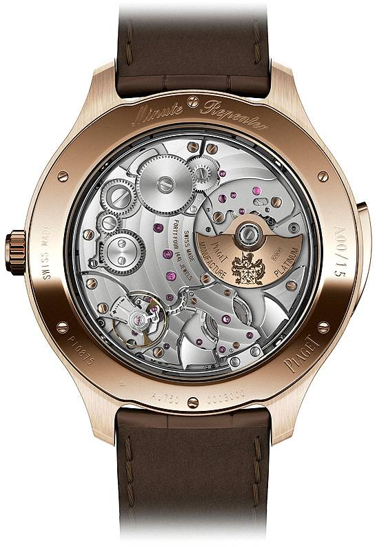 Piaget Emperador Coussin Ultra-Thin Minute Repeater back