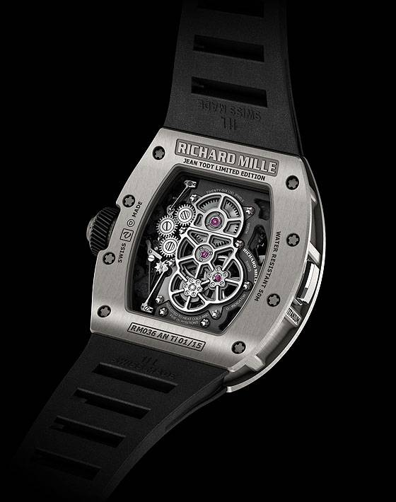 Richard Mille RM 036 Tourbillon G-Sensor Back
