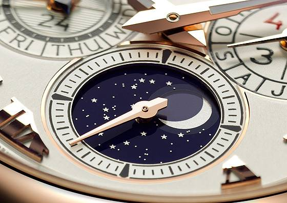 Chopard LUC Lunar One dial detail