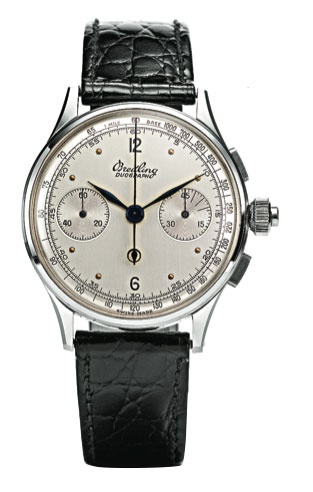 The Duograph from 1944 had an ultra-slim movement despite it split-seconds mechanism.