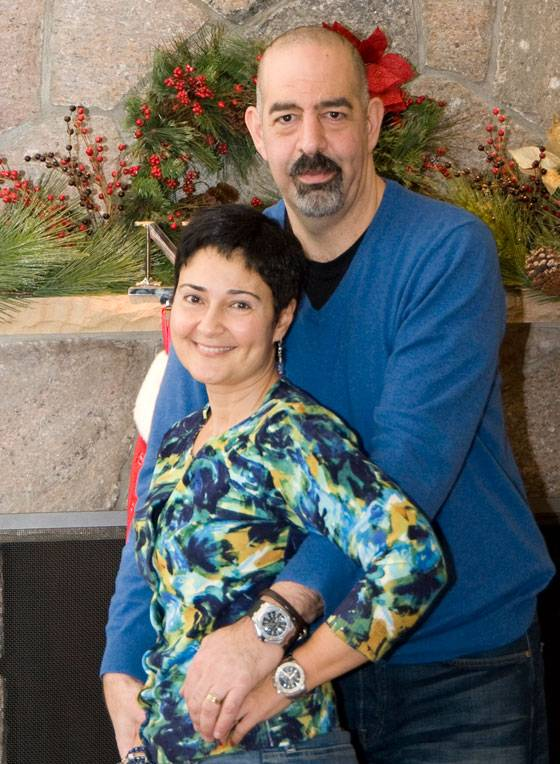 Suha Ozsoylu and wife Gamze celebrated the New Year while wearing an Audemars Piguet Royal Oak Offshore Diver and Blancpain Air Command, respectively.