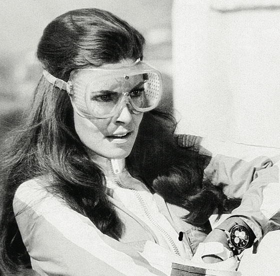 Raquel Welch wears a Breitling in the1967 film Fathom.