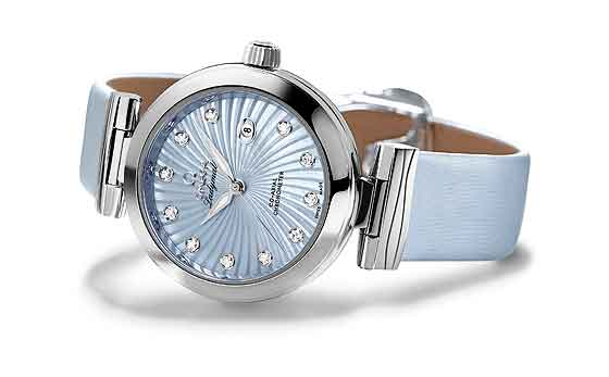 Omega Ladymatic blue MOP dial