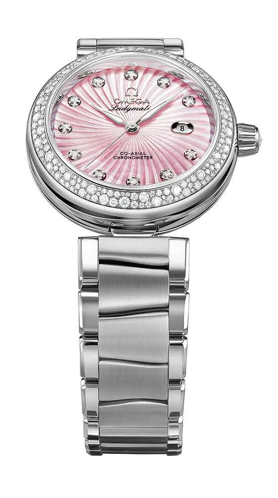 Omega Ladymatic w/ pink MOP dial
