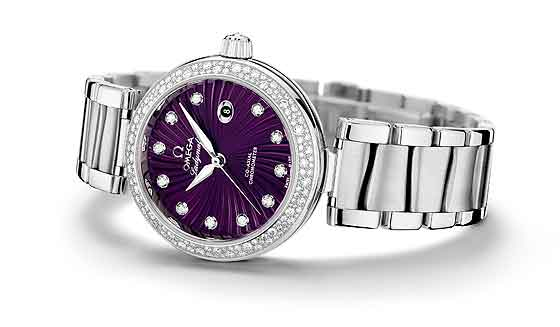 Omega Ladymatic purple dial