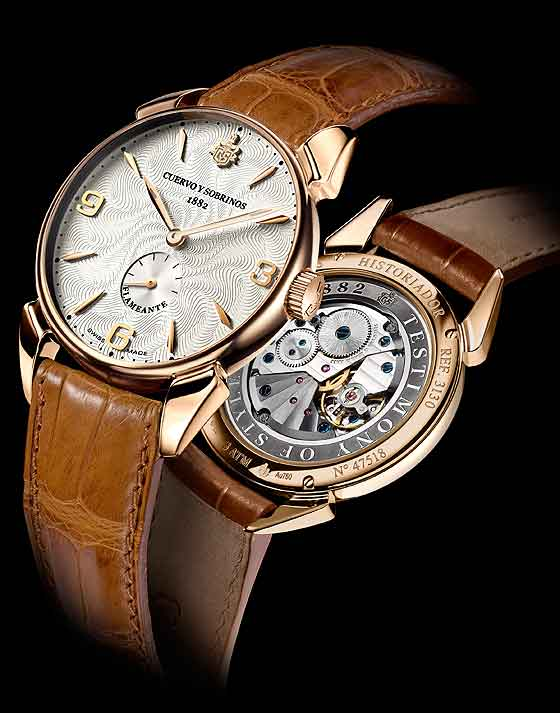 www.watchtime.com | watches wristwatch industry news  | Baselworld Preview: Cuervo y Sobrinos Historiador Flameante | CuervoySobrinos Historiador Flameante front back 560