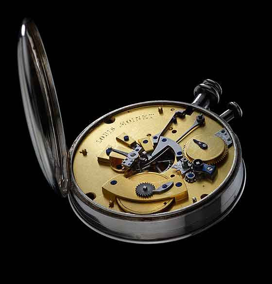 www.watchtime.com | watchmakers wristwatch industry news clocks  | Louis Moinet: Rewriting Chronograph History | Louis Moinet 1815 Chronograph back 560