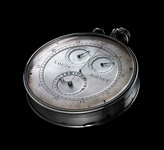 www.watchtime.com | watchmakers wristwatch industry news clocks  | Louis Moinet: Rewriting Chronograph History | Louis Moinet 1815 Chronograph front 560