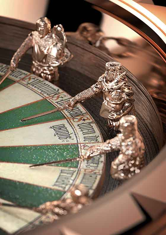 www.watchtime.com | watches wristwatch industry news  | Knights of Gold: Roger Dubuis Excalibur Roundtable | RD Excalibur RoundTable closeup 560