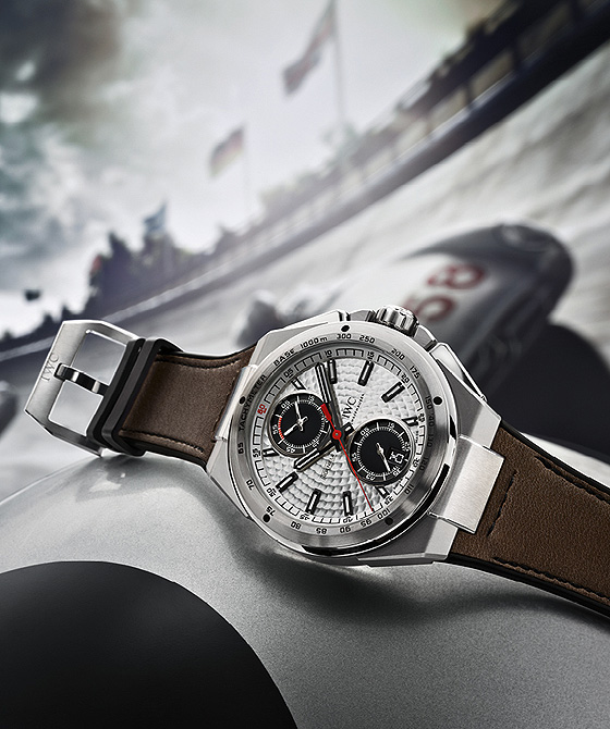 IWC Ingenieur Chronograph Silberpfeil on racetrack