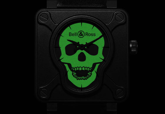 Bell & Ross BR 01 Airborne - glow-in-the-dark skull