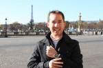 Steve Bright wears his JS Watch Islandus 1919 while on a family vacation in Paris.