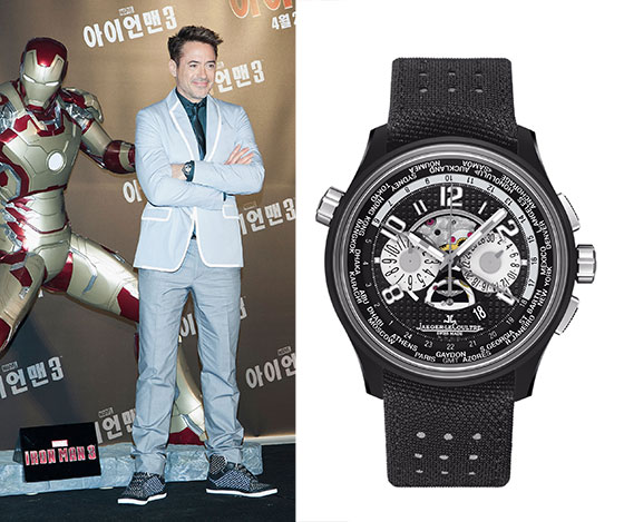 Robert Downey Jr  Wears Jaeger-LeCoultre While Promoting