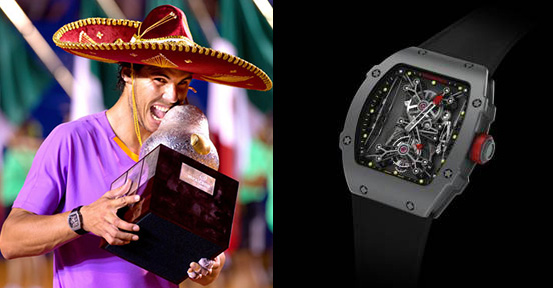 Nadal wearing the Richard Mille RM 27-01 Tourbillon Rafael Nadal