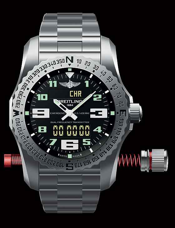 Breitling Emergency II with antenna