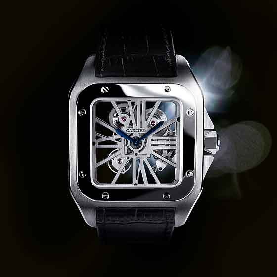 Cartier Santos 100 Skeleton