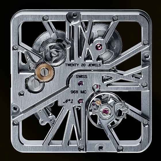 Cartier Santos 100 movement- back