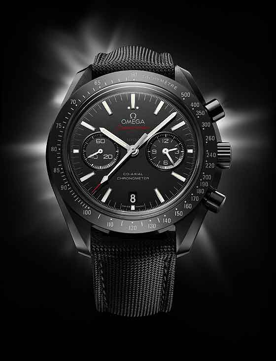 Omega Speedmaster Moonwatch in black ceramic-front