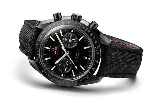 Omega Speedmaster Moonwatch in black ceramic - white background