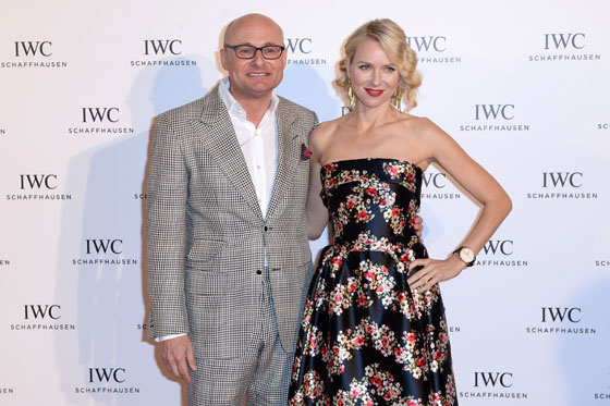 "IWC CEO Georges Kern and actress Naomi Watts at the ""For the Love of Cinema"" event hosted by IWC."
