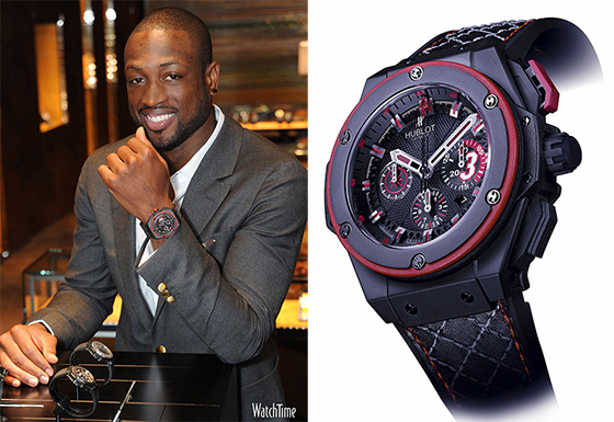 "Dwyane Wade wearing the Hublot King Power ""D-Wade"""