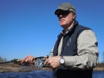 Dr. Bryan Wierwill from Madison, WI, enjoying his first week of retirement while sporting a new Rolex Explorer II and fly-fishing for salmon in Nova Scotia.