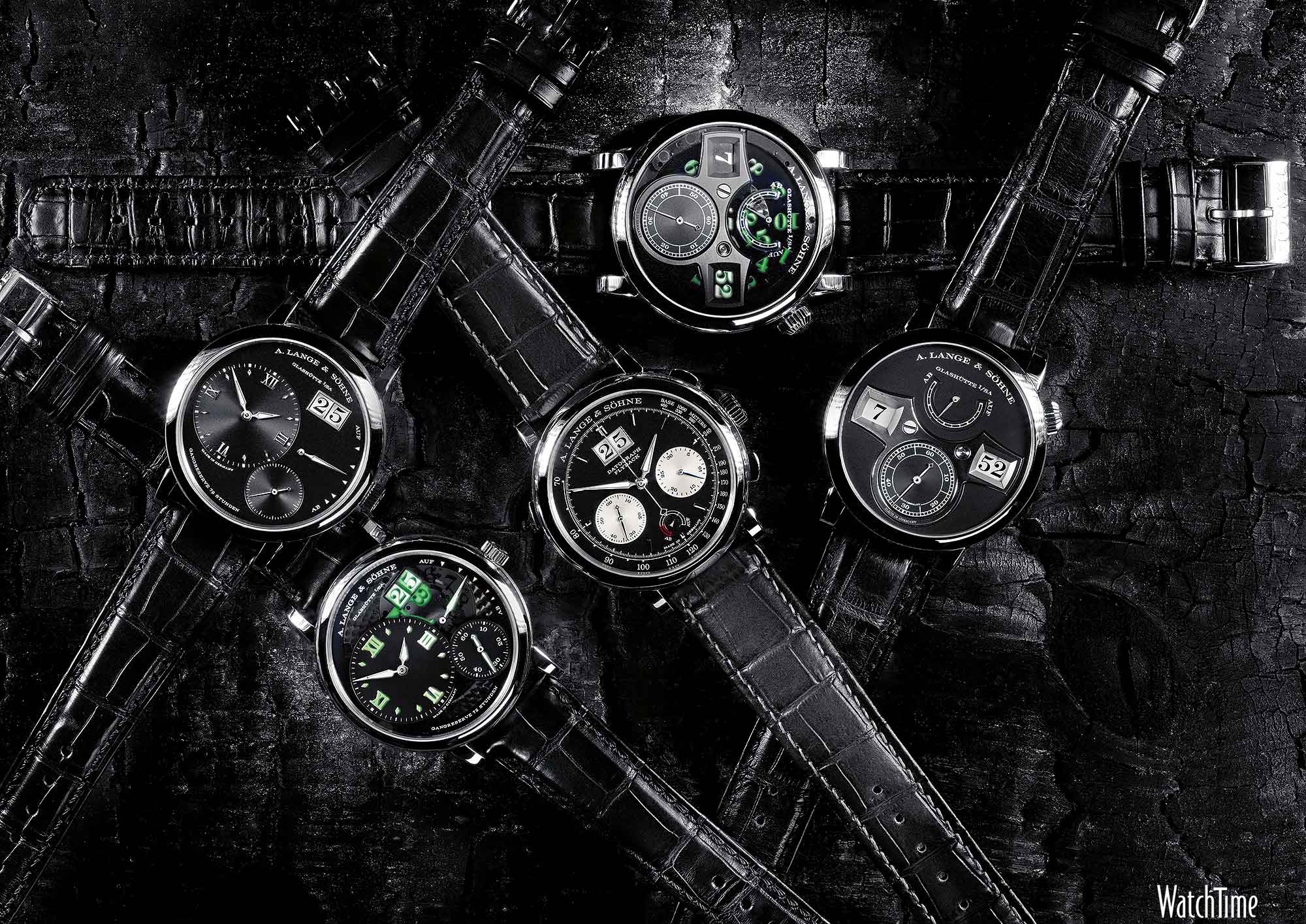 Luxury watches wallpaper - A Lange Sohne Collection 2013 Black