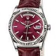 Rolex Day-Date in white gold/cherry dial