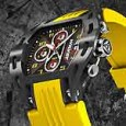 Wryst Airborne sport watch FW4 - yellow strap