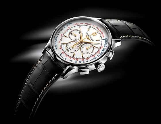 Longines Asthmometer Pulsometer Chronograph - side