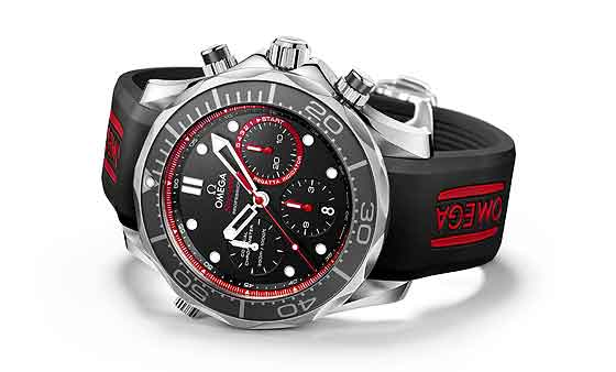 Omega Seamaster Diver ETNZ Limited Edition - side