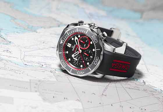 Omega Seamaster Diver ETNZ Limited Edition - reclining