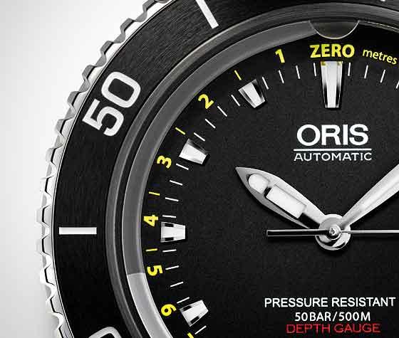 Oris Aquis Depth Gauge Dial CU